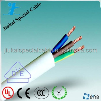 3 cores 0.5mm Flexible copper conductor PVC Insulated Cable