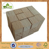 Small natural color beech wood cubes