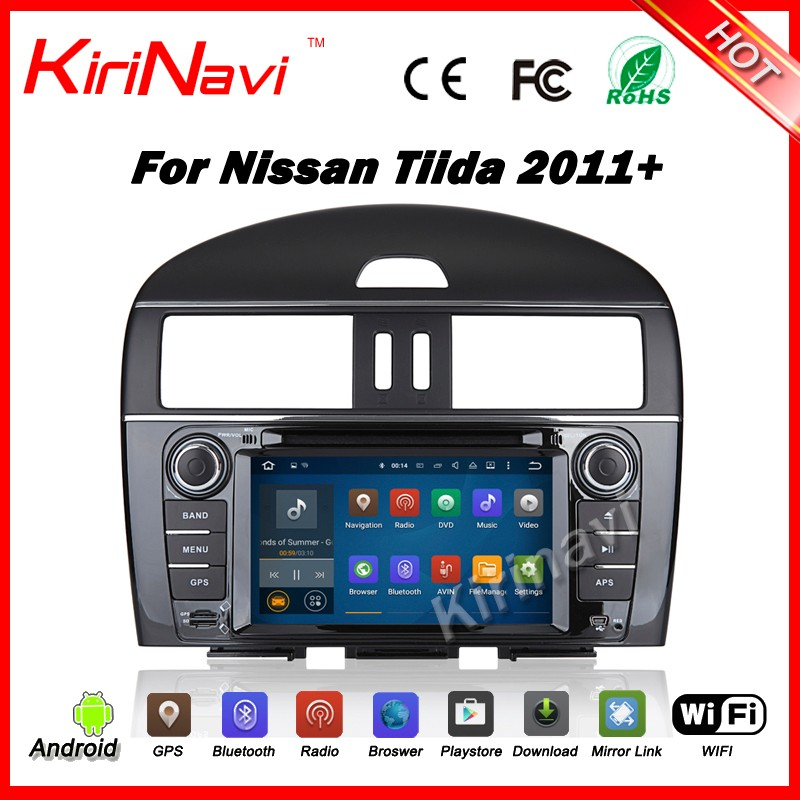 Kirinavi WC-NT7041 android 5.1 car audio for nissan tiida 2011+ car radio navigation system multimedia WIFI 3G Playstore