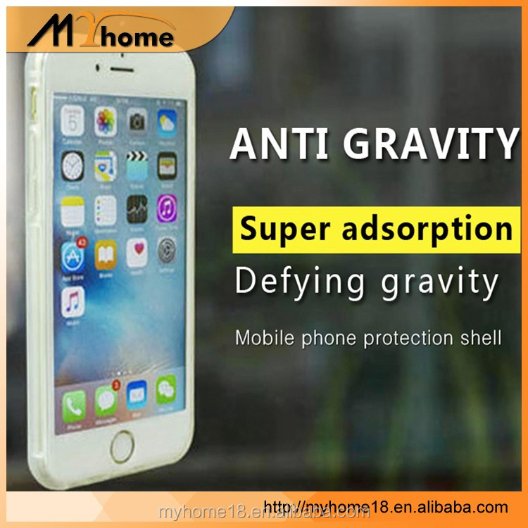 New For iphone 7 Case Anti Gravity Soft TPU Phone Cases Magical Sticky Antigravity Wall Back Cover for Iphone 7 plus
