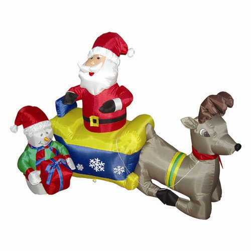 Wholesale Imported christmas ornaments Inflatable Santa Deer Carriage For Festival Promotion