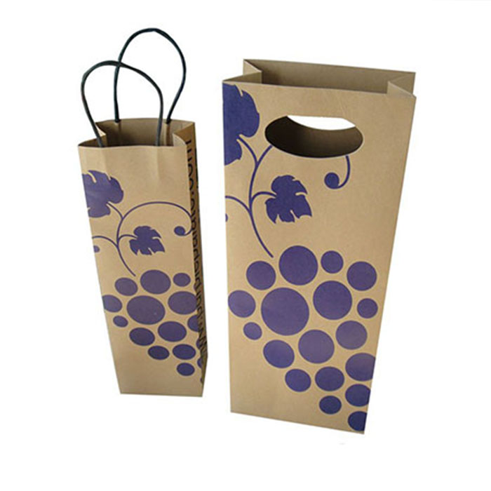 china design luxury red high quality paper bag decorative printed custom wine paper bag with handle