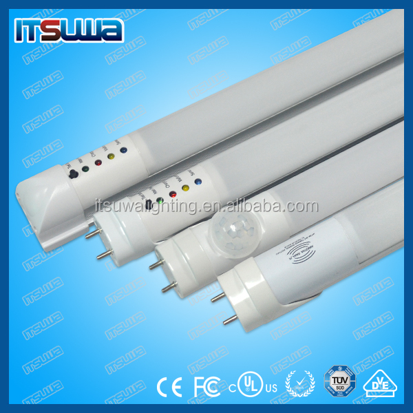 Underground Parking Lot T8 LED Tube Light with Radar Sensor Motion Sensor 10M Detective Area CE RoHS