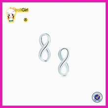Fashion 925 silver earings silver design simple earing stand new earring findings