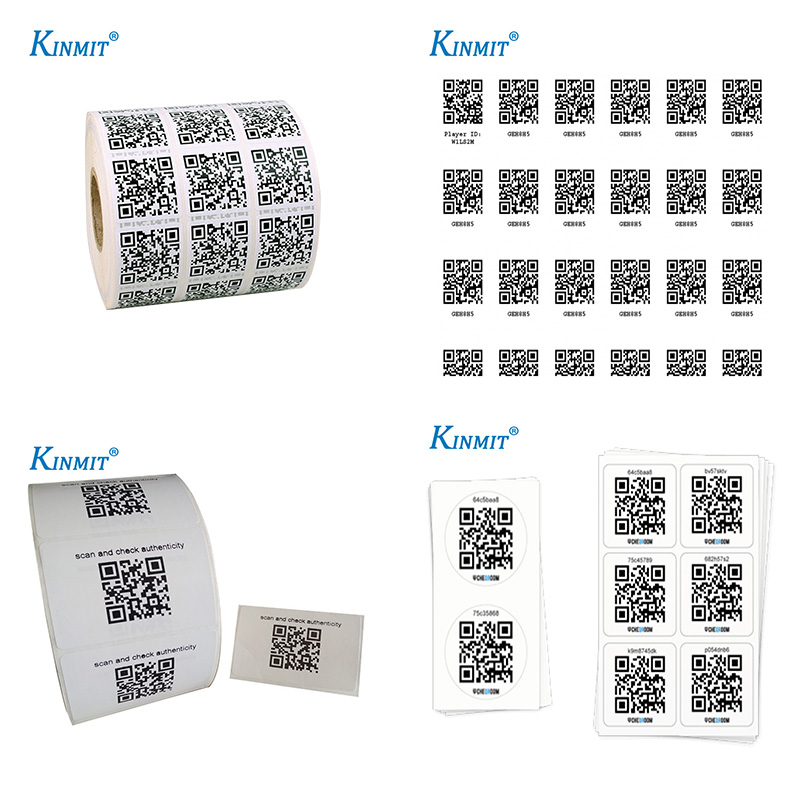 High Quality Self Adhesive Waterproof Paper QR Code Label Sticker printing