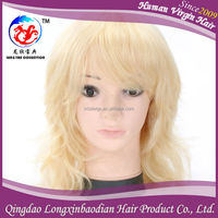Qingdao Factory Wholesale Cheap Price Brazilian Remy Hair Short Blond Human Hiar Full Lace Wig For White Women