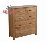 Wood bedroom furniture set solid oak 4+2 CHEST(KN2O4)