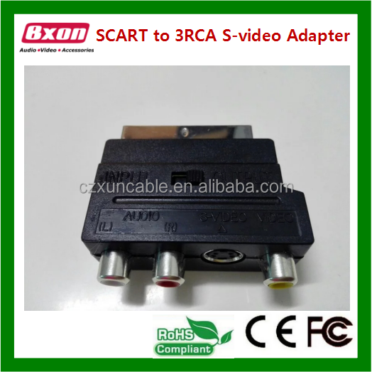 high quality 21pin scart to coaxial adapter cable