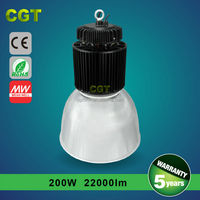 China factory price list 200w led high bay light , offer sample with 5 years warranty