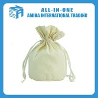 Cotton canvas custom pull on the rope canvas receive bag