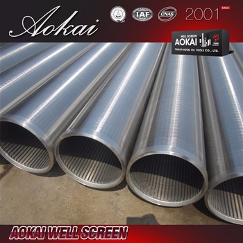 wedge wire screen / water sand well slotted pipe bridge johnson screen