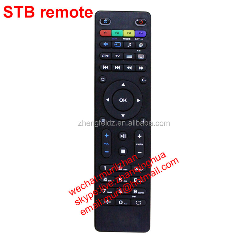 Black 48 keys MAG 254 replacement remote control for MAG 250 255 270 275 set-top box system Linux IPTV dvb-t2 program function