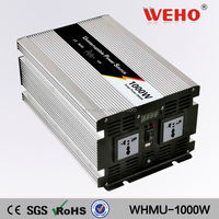Hight frequency 1000w 220v 12v kbm power inverter with charger