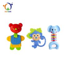hot sale animals toys cartoon funny baby teether with high quality