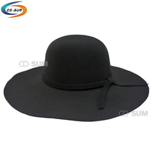 COSUM brand In stock fashion ladies wide brim handmade felted cheap wool hats