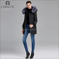 Factory Supply OEM Women Winter Wear Coat Manufacturer Hoodied Fur Collar Winter Down Coat Beijing