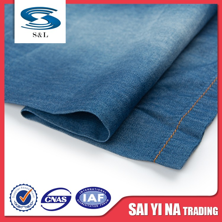 China woven jeans denim fabric textiles of high quality cotton