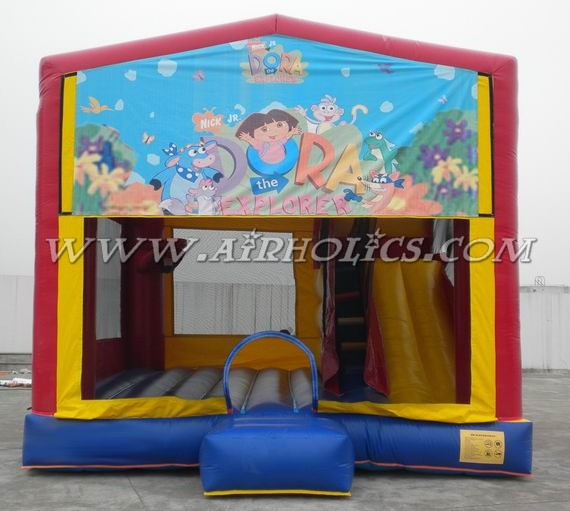 inflatable jumper Dora theme panel, bounce slide A2081