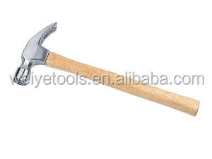 American type claw hammer with wood handle ,claw hammer with straight claw