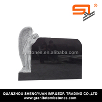 burial headstone with angel picture for sale from Alibaba