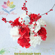 2013 beautiful paper flower vegetable salad decoration