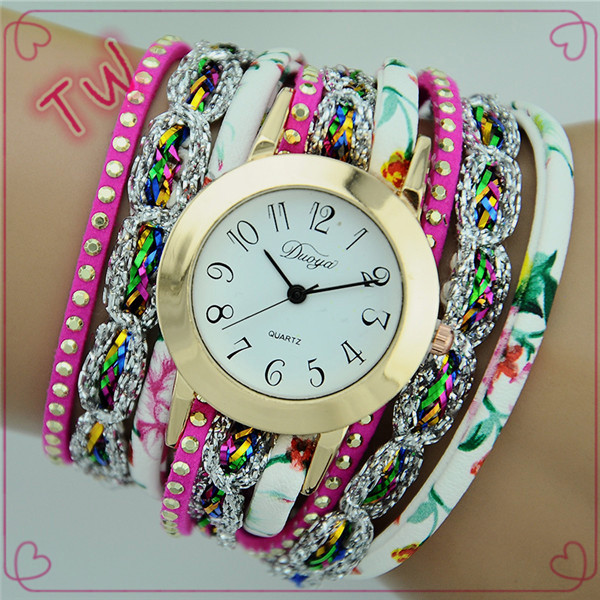 Small moq logo custom brand your own ladies colorful pu leather watches wrist watch online shopping with good quality