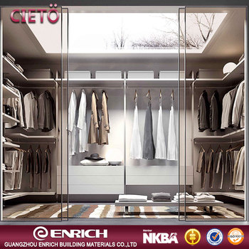 2017 New style Walk in furniture bedroom wardrobe cloth closet