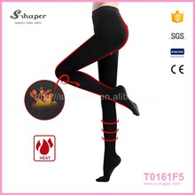Women Black Warm Silk Pants Winter Stockings