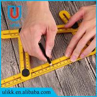 Four-Sided Ruler Measuring Instrument Template four Angle-izer Tool Mechanism Slides Multipurpose Folding ruler Egg Tools