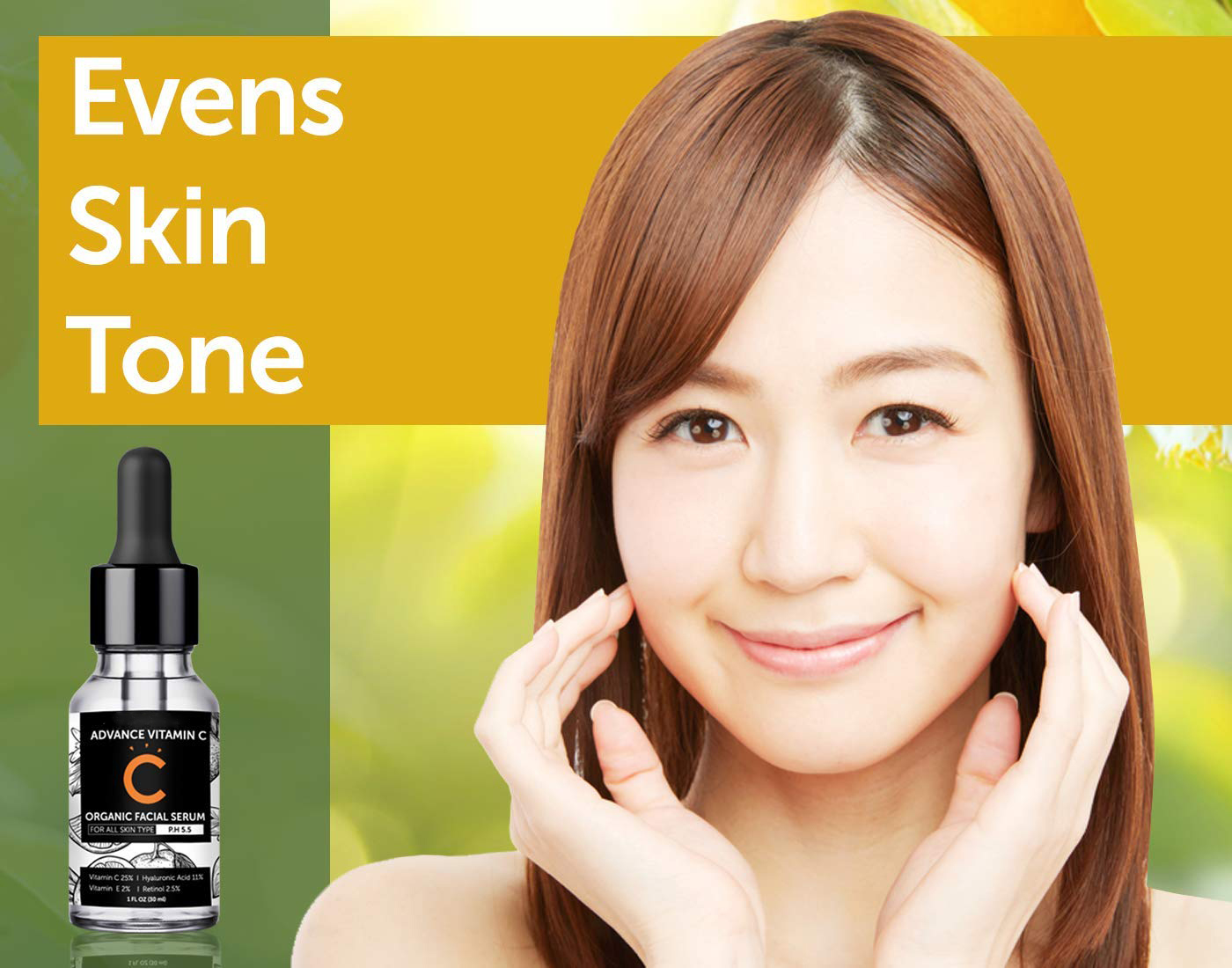 Hight Quality Vitamin C Serum for Face With Hyaluronic Acid, Retinol, Vitamin E