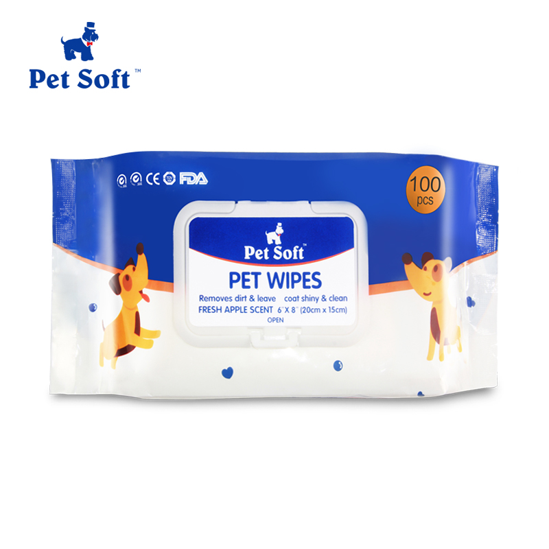 eco-friendly cleaning <strong>pet</strong> grooming soft wet wipes with factory directly wholesale