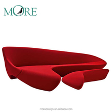 Modern Moon cashmere sectional design home club furniture with Ottoman sofa