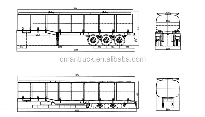 low price 3 axle fuel tanker semi trailer for sale with