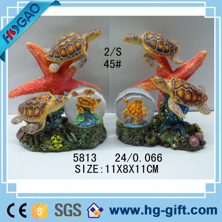 Resin/polyresin starfish custom funny anime glass snow globe custom