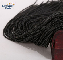 Wholesale gemstone loose strand 2mm 3mm natural black obsidian beads