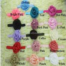 Boutique Girl Baby Satin Rolled Rose Flower Headbands Wedding Headband In Stock