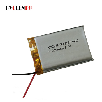 high capacity rechargeable li thium ion 3.7v 1000mah 503450 battery li-polymer battery