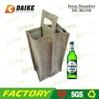 Exporters Recycle Jute Insulated Wine Bag with high quality