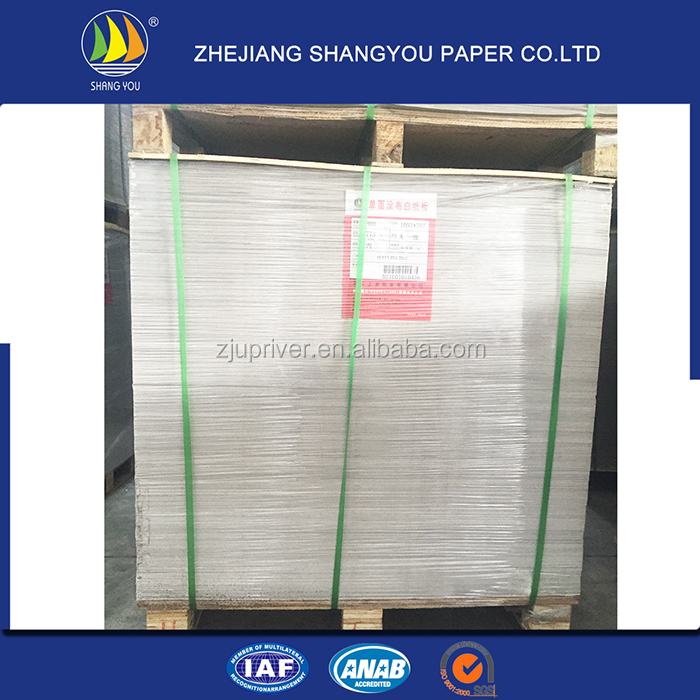 Cheap Price High Quality paper carton coated white duplex board with grey back paper stocklot