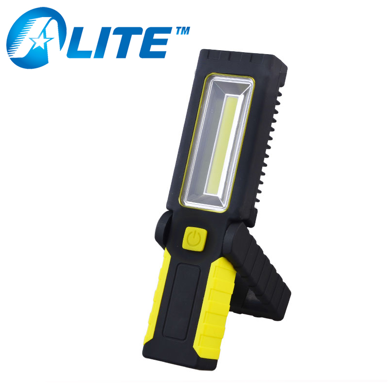 ABS plastic battery power outdoor magnetic cob led work light
