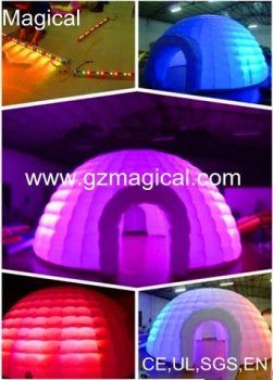 Inflatable Igloo lawn Tent with LED Light