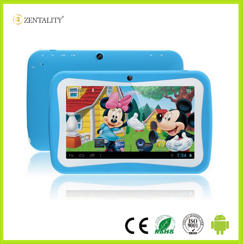 7' android pc q88 kids tablet with Dual Core 3G WIFI cartoon back cover android tablet