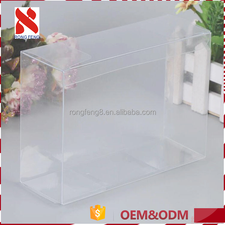 Recycled materials Super quality design your own clear pvc packaging gift box