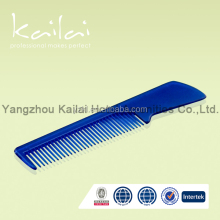 Colourful hotel or travel plastic cheap hair comb mens plastic hair comb
