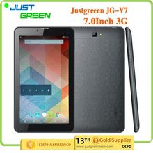 Smart tablet pc MTK8312 quad core 1GB 8GB 3G WCDMA GSM 2 SIM Card Slots JG-V7 with CE certificate
