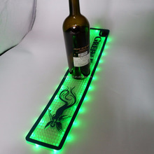 new promotional soft pvc bar beer mat drinking mats custom LED runner mat