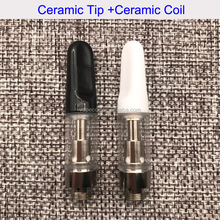 0.5ml glass tube cbd tank ceramic coil ccell 510 thread thc oil cartridge