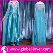 New frozen elsa coronation dress costume cosplay for adult