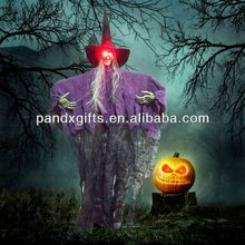 Halloween hanging witch ghost W hair led light