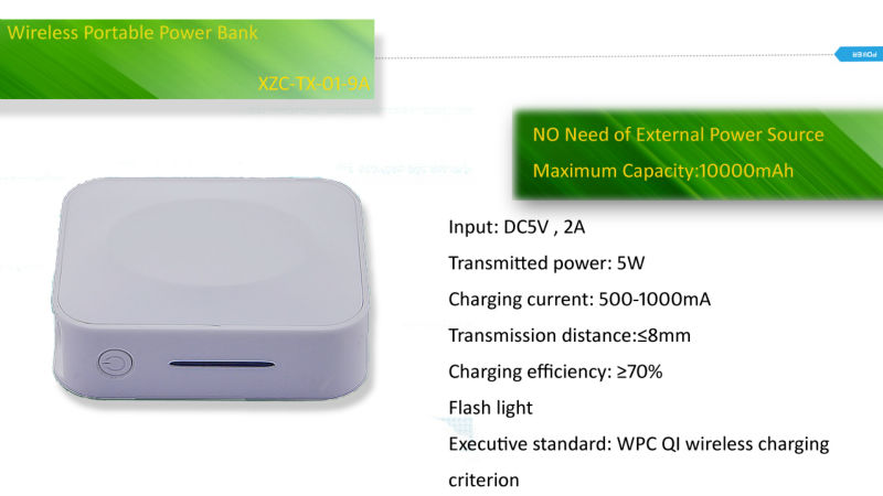 powerbank 10000/WIRELESS/battery charger/new products electronic